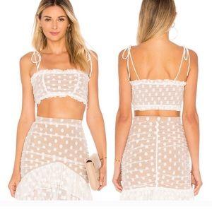 Majorelle Heidi White skirt and matching top set